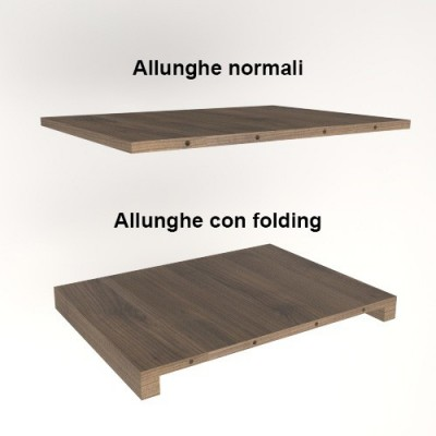 Salomone extendable Table with extensions-rack