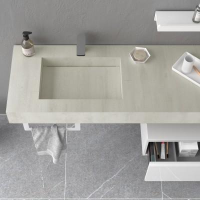 Stone integrated washbasin...
