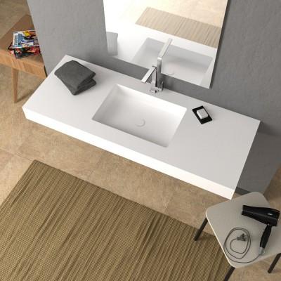 Mensola White Skin con lavabo integrato