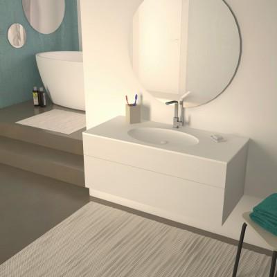 Siviglia - Mobile completo arredo bagno - Vasca rotonda