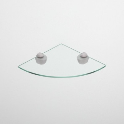 Etagere d'angle en verre