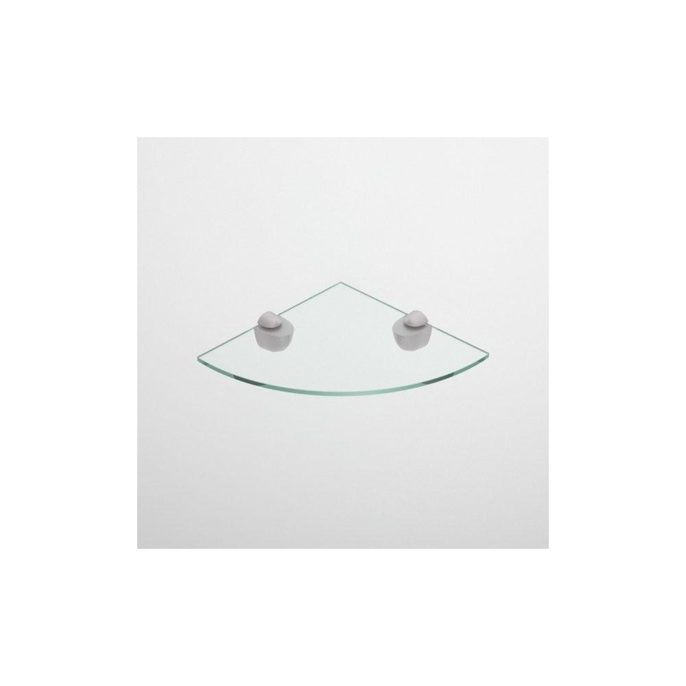 Mensola angolare in vetro
