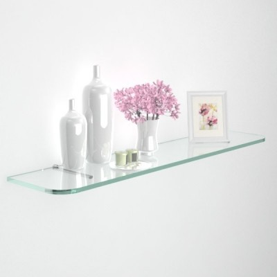 Glass shelves with rounded corners trickness 12 mm