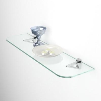 Etagere en verre avec coins arrondis epaisseur 6 mm