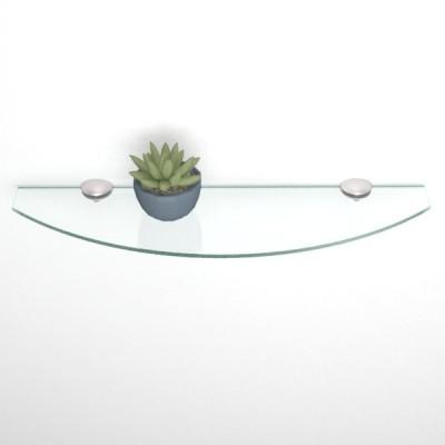 Etagere en verre courbé