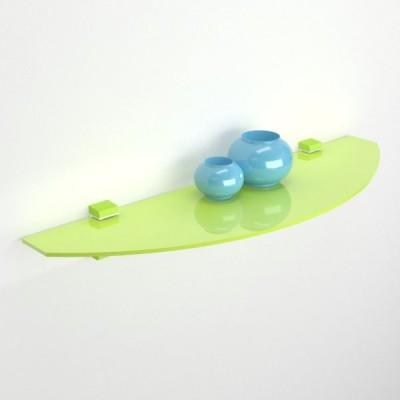 Etagere en verre courbé coloré