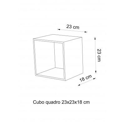 Etagere cube en verre