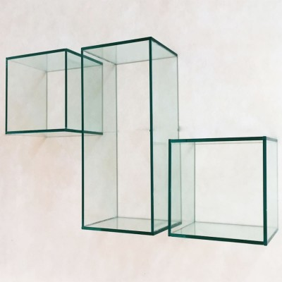 Wall glass cubes