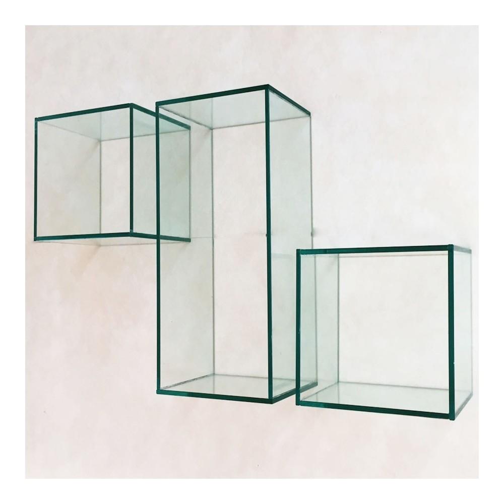Cubi da parete cubi arredo cubi in vetro for Cubi in legno arredamento