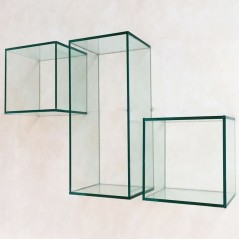 Wall glass cubes