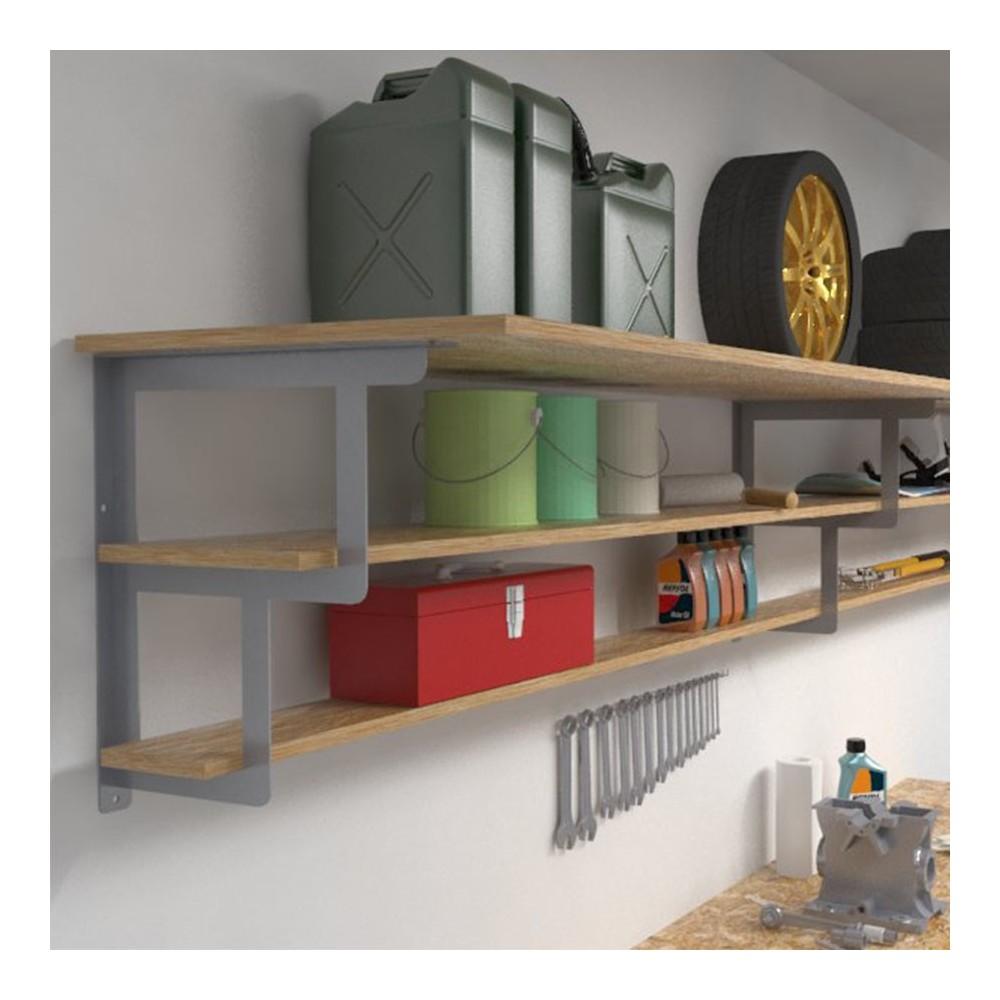 shelf brackets shelf brackets for 3 garage shelves. Black Bedroom Furniture Sets. Home Design Ideas