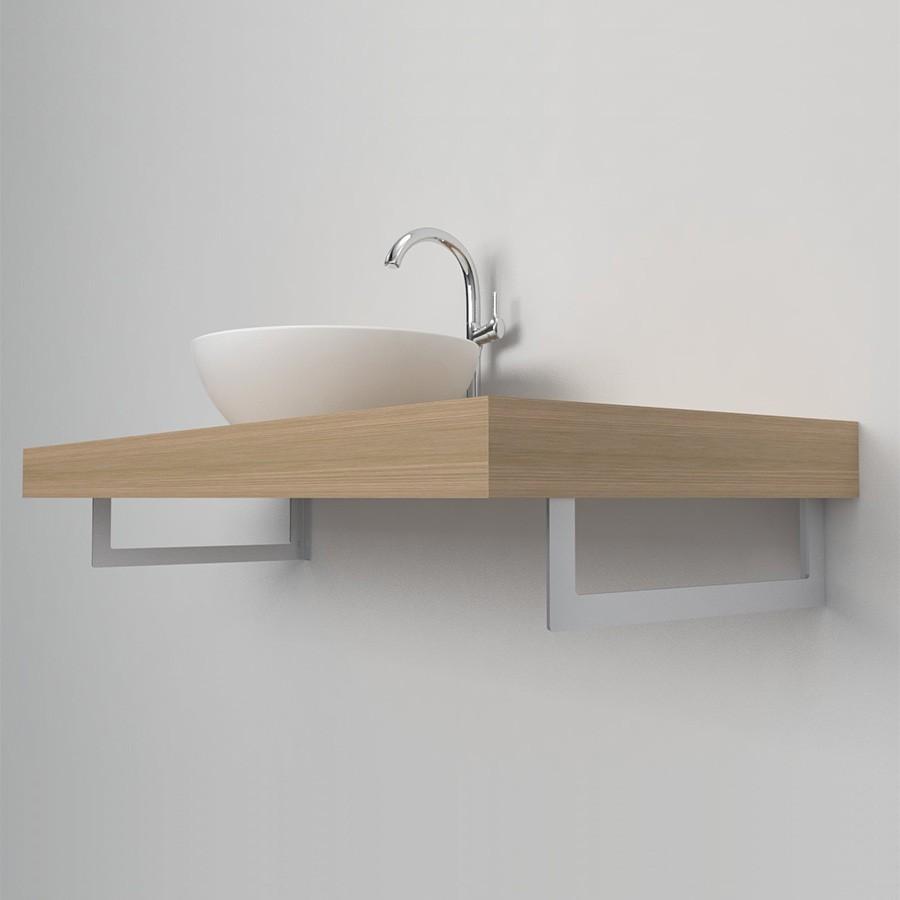 Mensola legno grezza led for Mensola lavabo