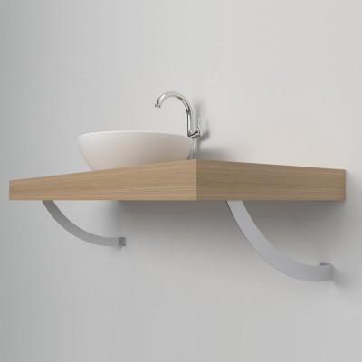 Reggimensola stondata mensola lavabo