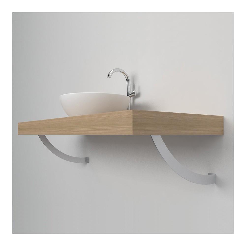 Support arrondie console salle de bain
