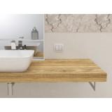 Mensola per lavabo in legno massello