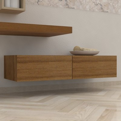 Tiroir salle de bain en bois massif