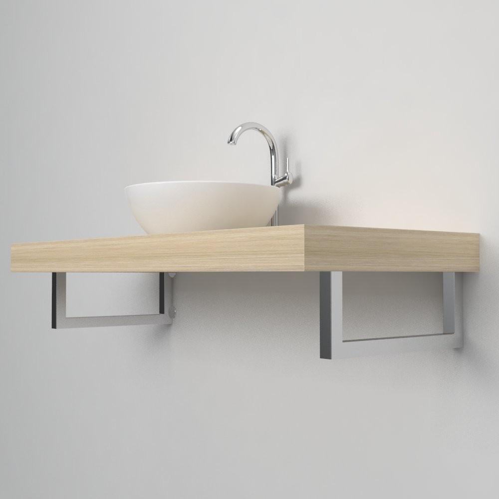 Porta asciugamani 001 reggimensola arredo bagno for Mensola lavabo