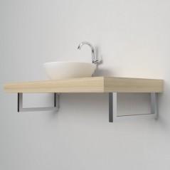Support porte serviette 001 console salle de bain