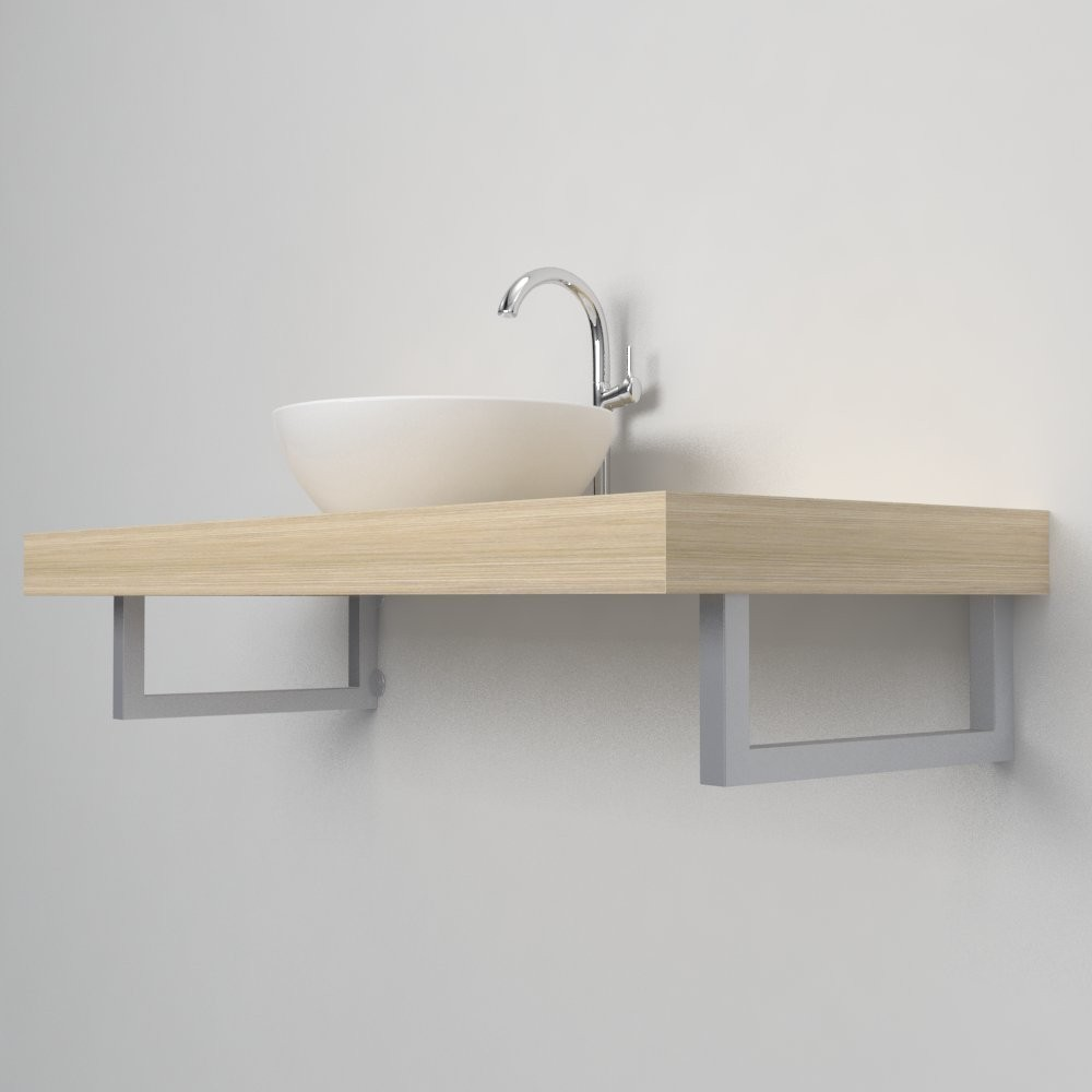 Support porte serviette console salle de bain
