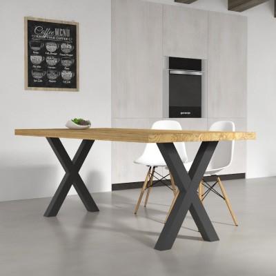 Tavolo da cucina Deryck in legno massello