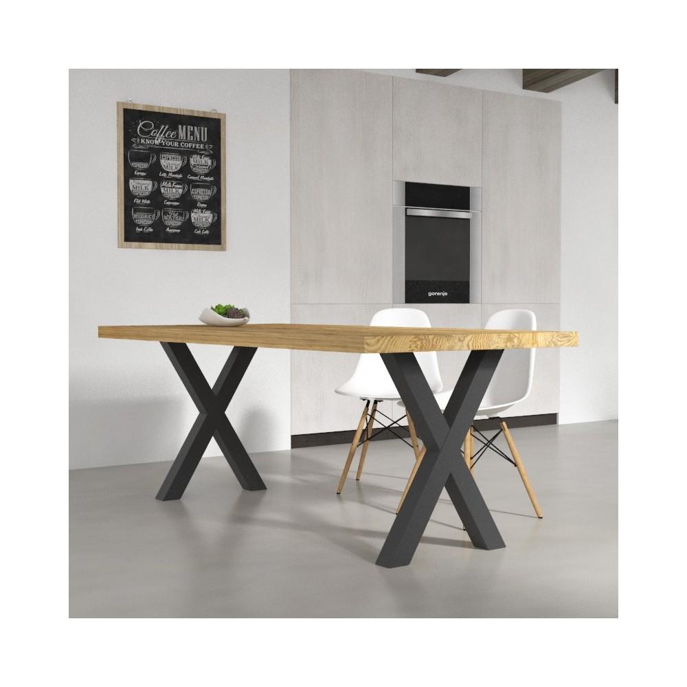 Tavoli da cucina tavolo deryck in legno massello for Tavoli da pranzo in legno