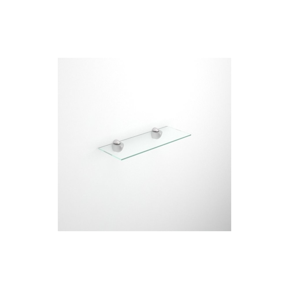 Rectangular glass shelves