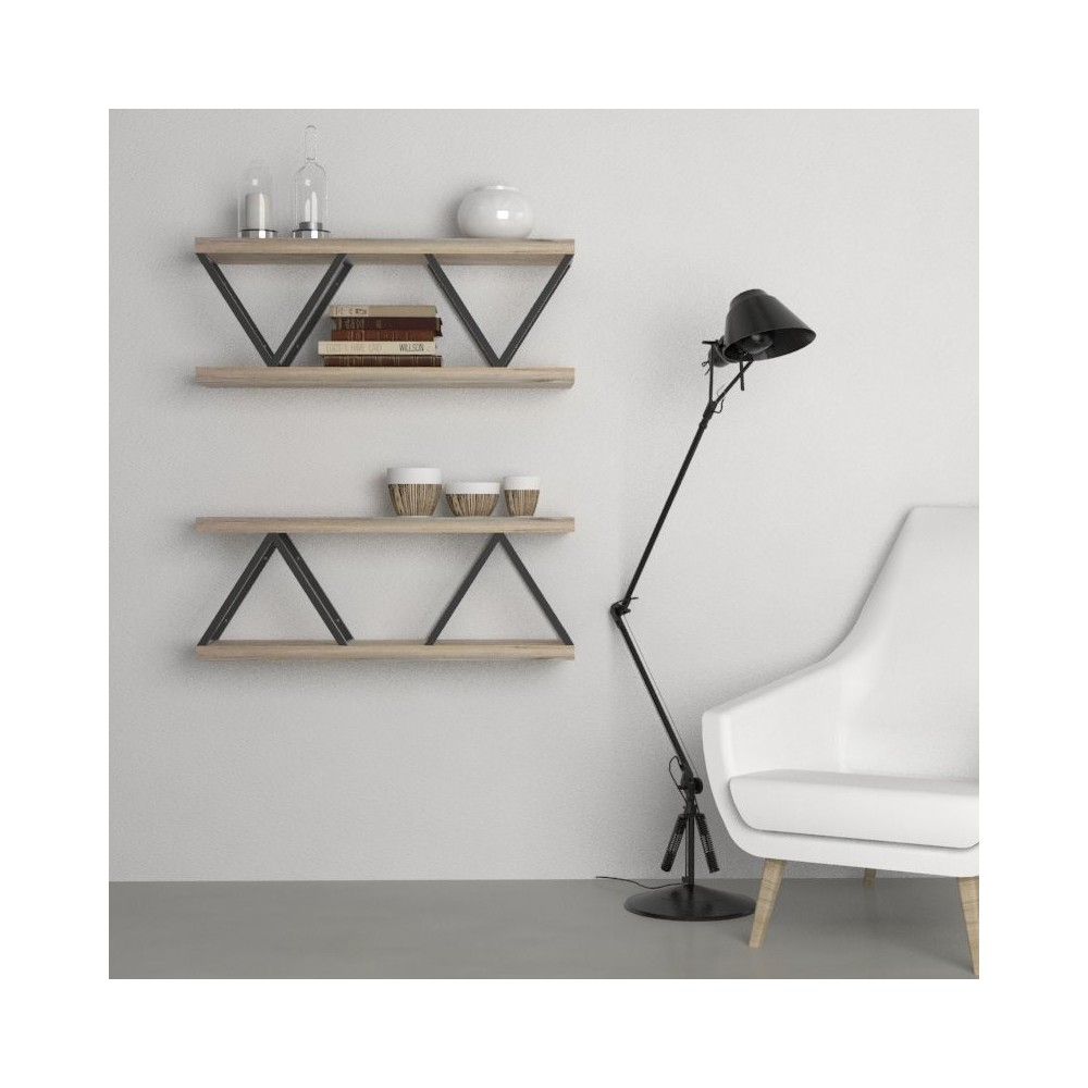 Composizione in legno bridge mensole design arredo for Mensole d arredo