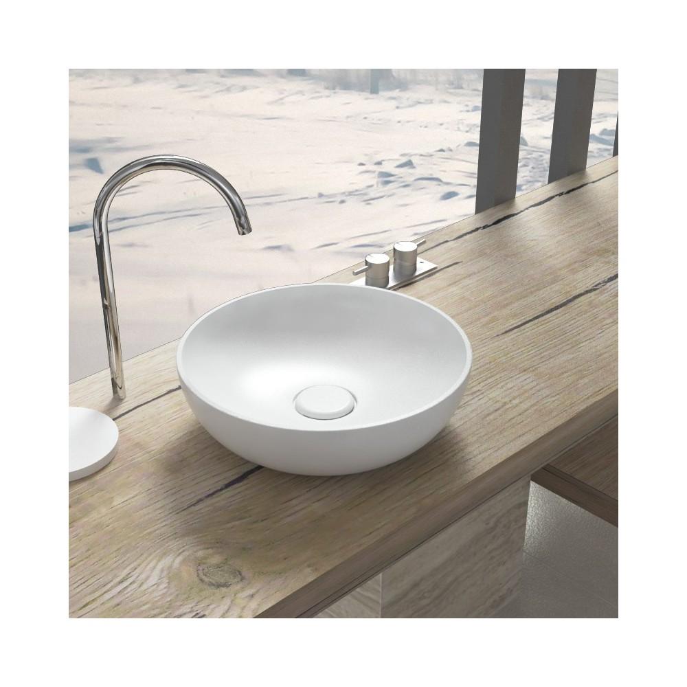 Lavabo lavabo da appoggio vision 42 for Mensola bianca lucida
