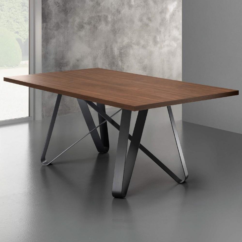Tavolo pranzo scandinavo e vintage LOEVA in legno (180cmX90X75cm)  (annegato) - Camera tavolo da pranzo e tavoli da cocktail