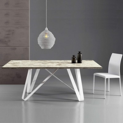 Eurosedia - Table Axel extensible en vintage stratifié