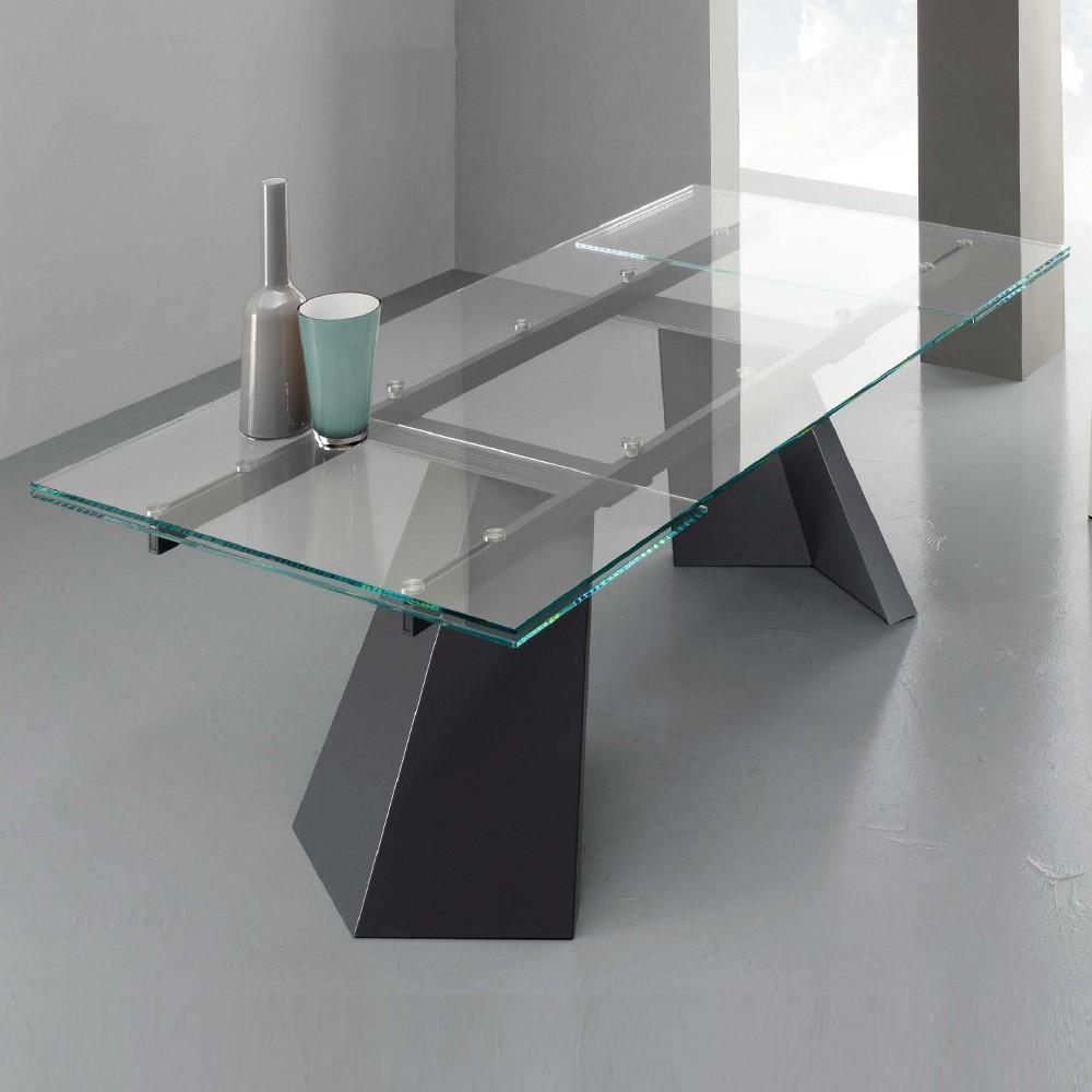 Tavoli da cucina tavolo pechino for Tavolo allungabile vetro trasparente