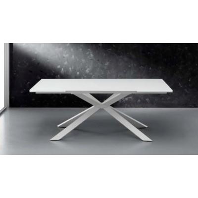 Eurosedia - Osaka table extensible in serigraphic white glass