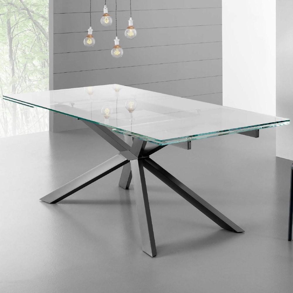 Tavoli da cucina tavolo osaka for Tavolo allungabile vetro trasparente