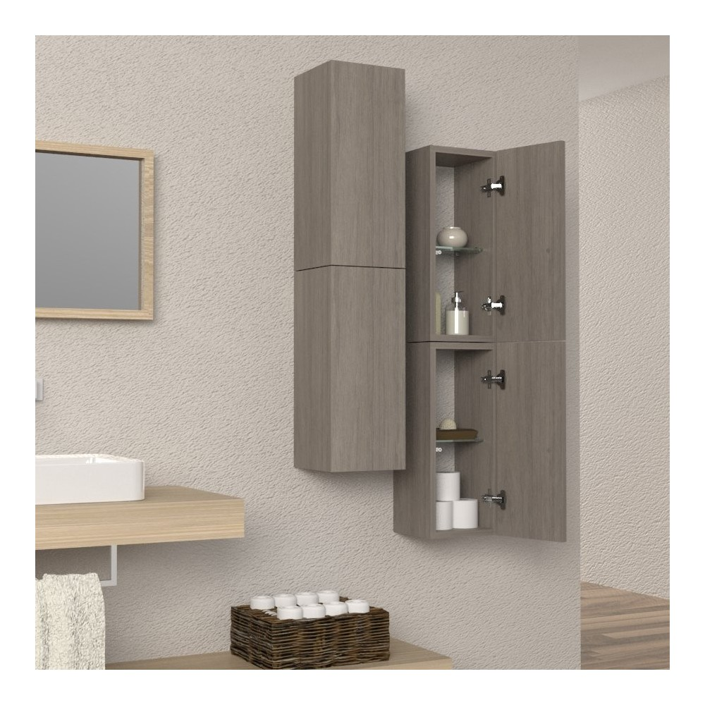 Bathroom cabinets bathroom column floating column - Mobili a colonna per bagno ...