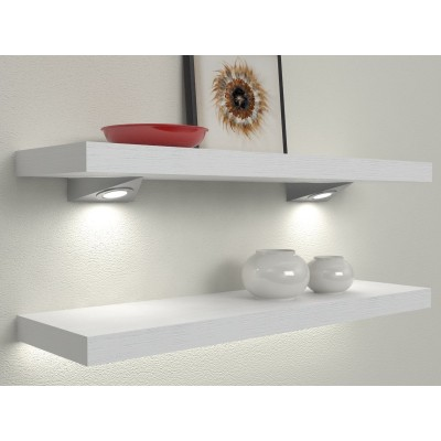 Shelves with spotlights