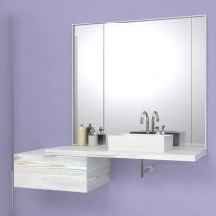 Mensola per lavabo spessore 4 cm