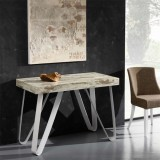 Eurosedia - Extensible console Axel 325 in vintage laminated wood
