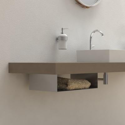 Porta asciugamani bagno Under per mensola lavabo
