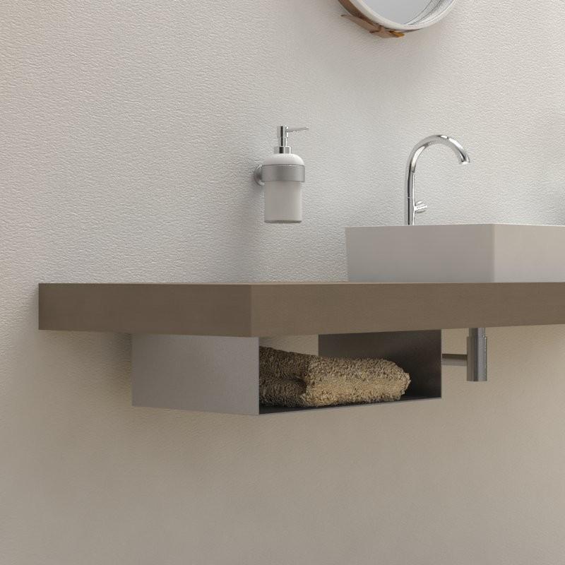 Porta Asciugamani Con Mensola.Porta Asciugamani Under Arredo Bagno Accessori Bagno