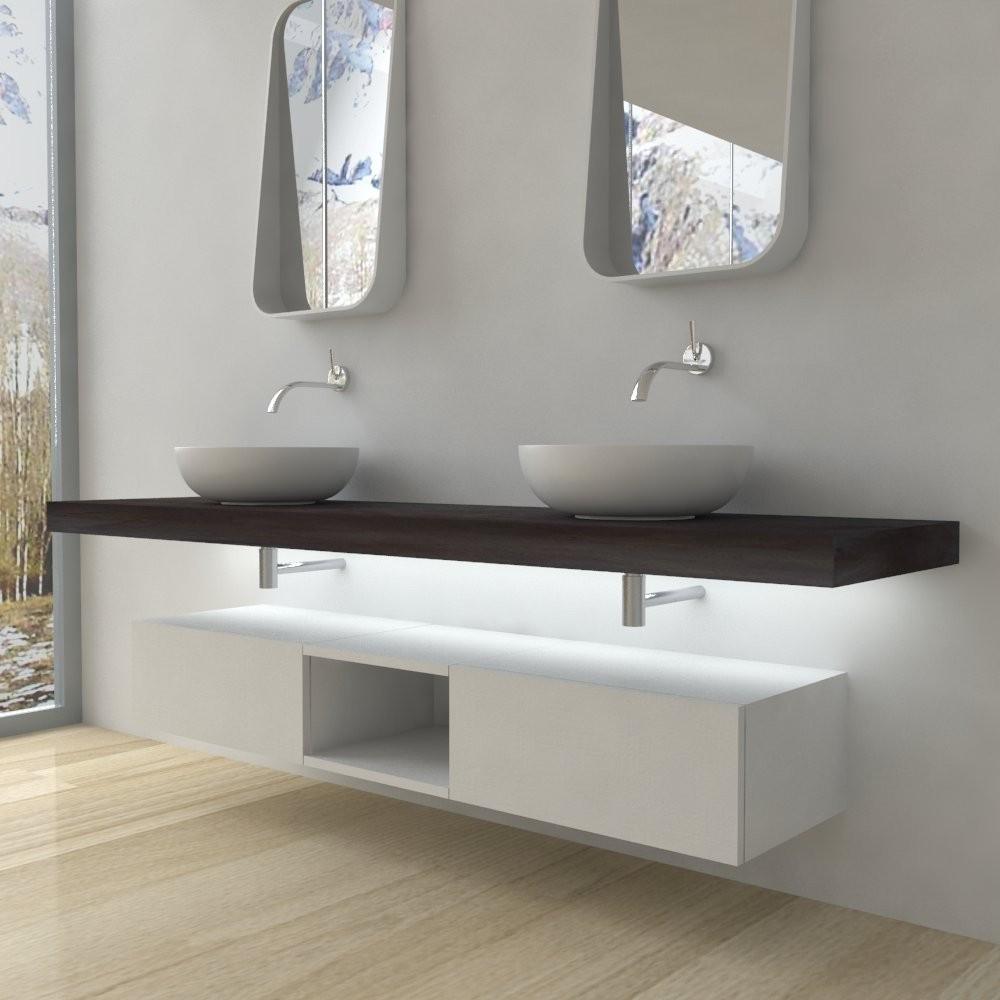 Meuble salle de bain - Tablette salle de bain avec LED