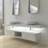 Mensola per lavabo con LED