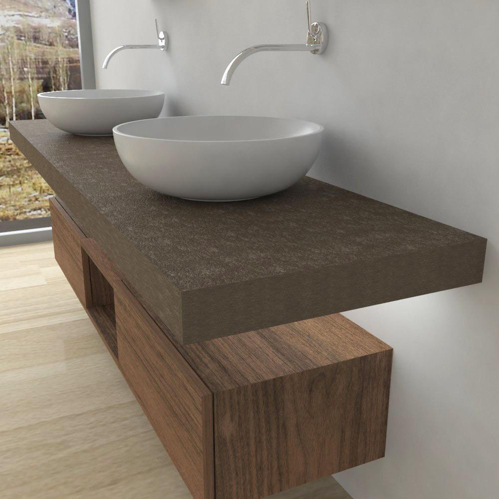 Mobili bagno mensola per lavabo con led - Lavabi per mobili da bagno ...