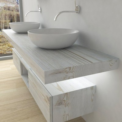 Wash basin shelf with LED