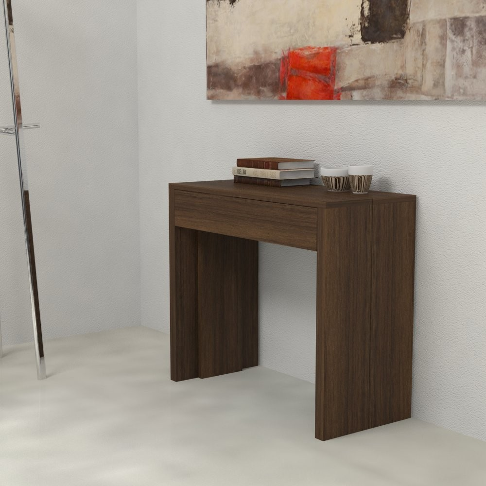 Extensible console Giove in laminated wood
