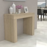 Fixed console Moon in laminated wood folding