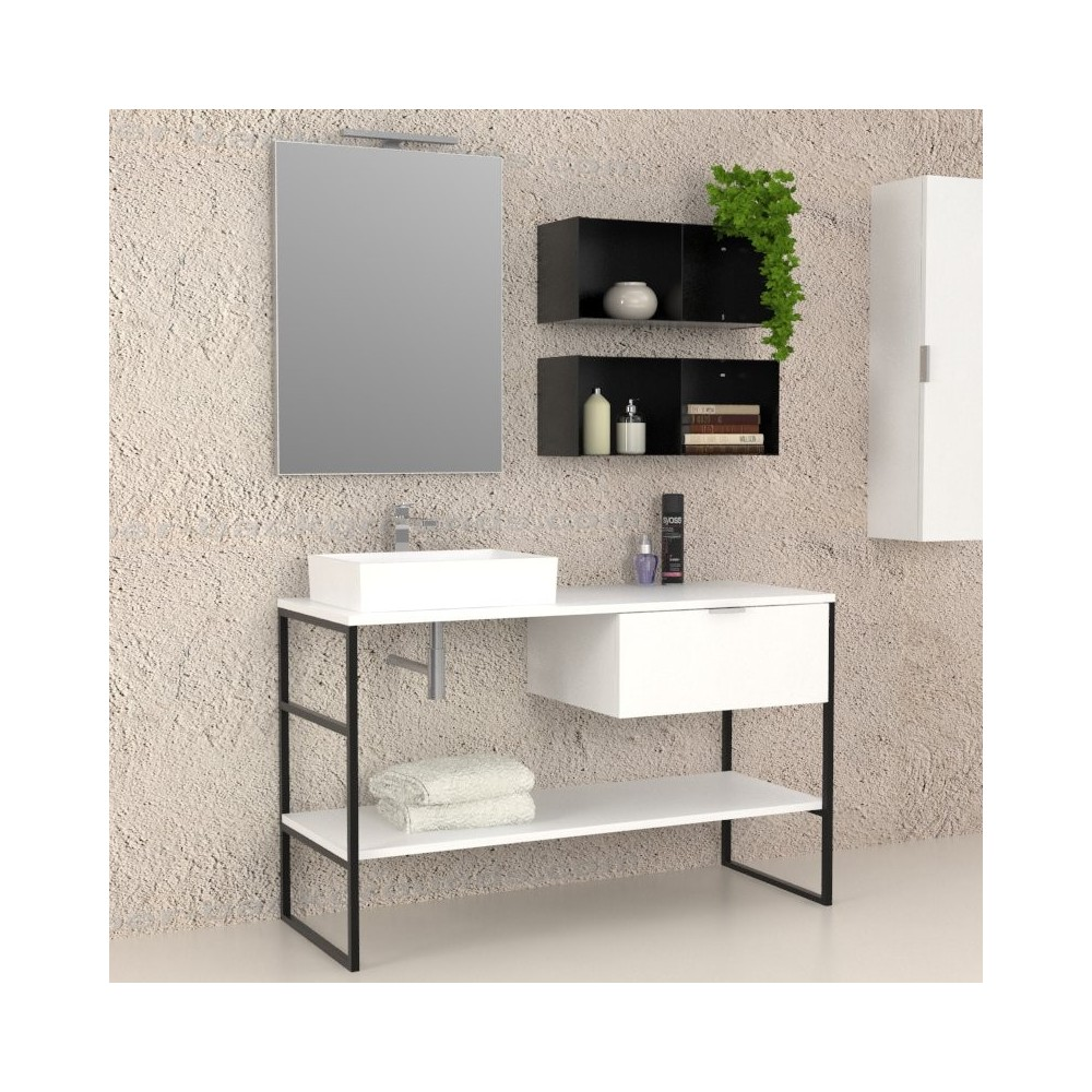 meubles de salle iron complete mobile salle de bain. Black Bedroom Furniture Sets. Home Design Ideas