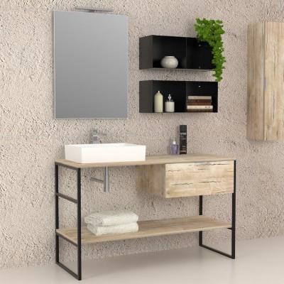 Iron - Meuble salle de bains complet