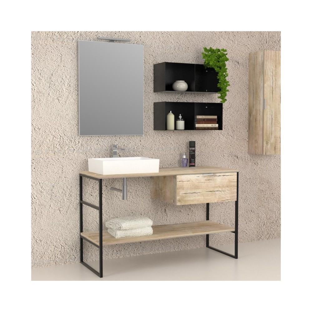 Mobili bagno arredo bagno iron mobile completo for Mobili x il bagno