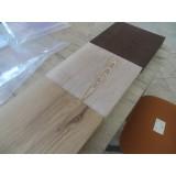 Mensola lavabo in legno massello con bordi irregolari