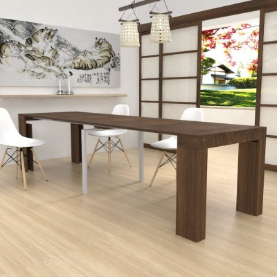 Extensible console Kilika in laminated wood folding